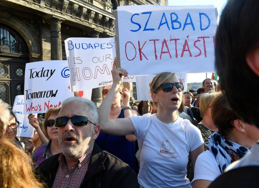 Protest w Budapeszcie