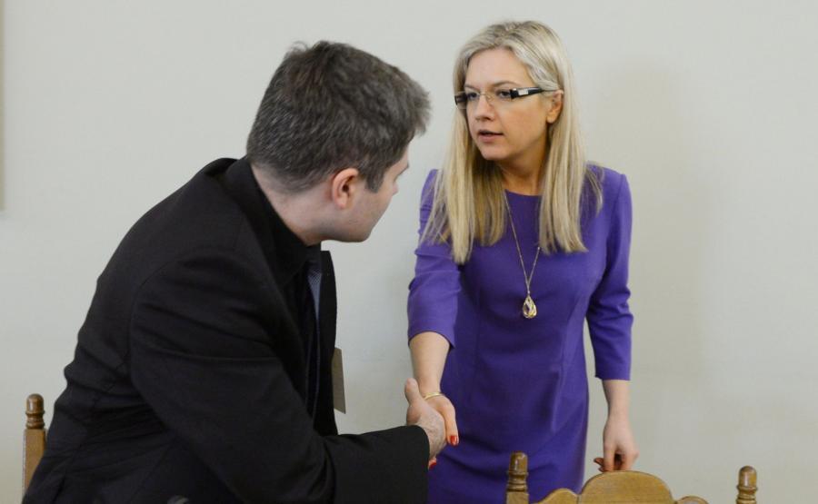 Grzegorz Gaweł i Małgorzata Wassermann