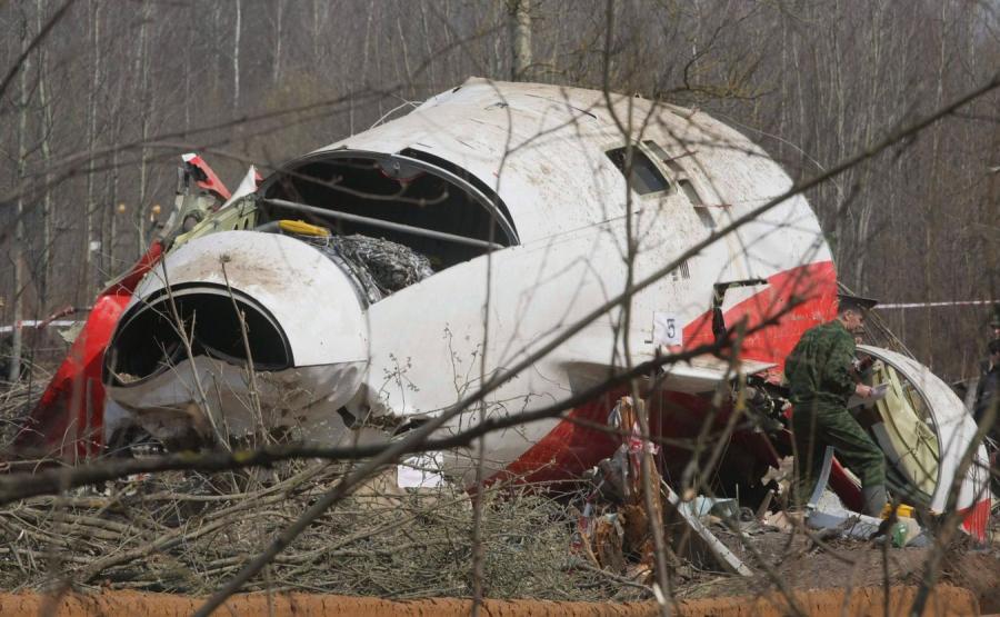 Katastrofa smoleńska, rozbity Tu-154