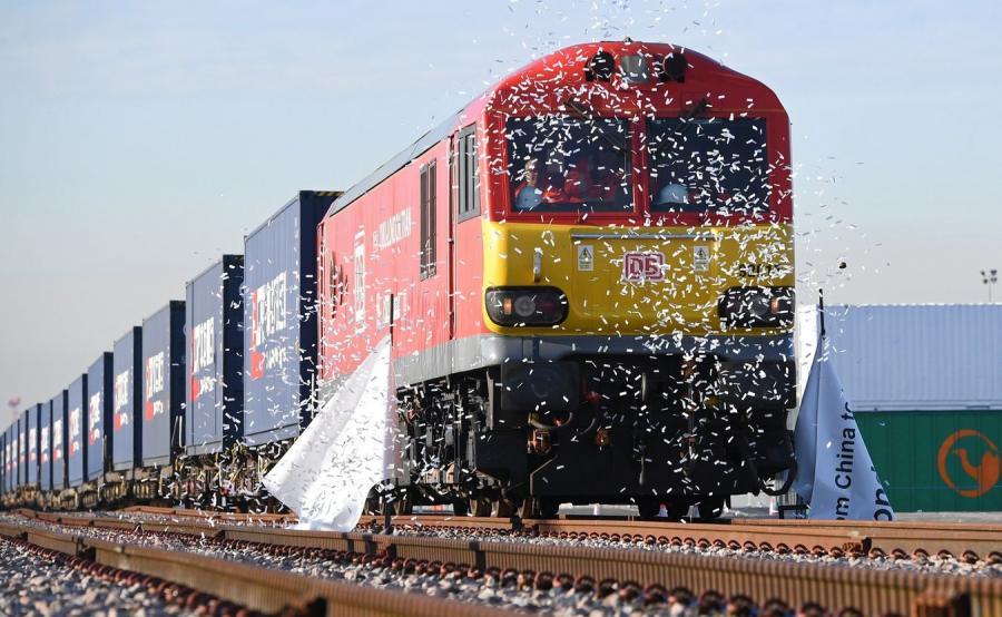 Pierwszy pociąg towarowy z Wielkiej Brytanii do Chin