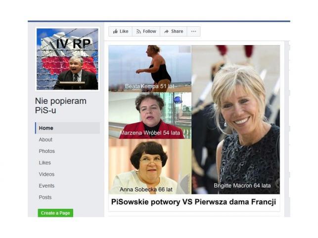 Posłanki PiS i Brigitte Trogneux