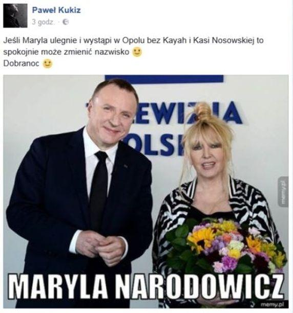 screen z profilu Pawła Kukiza