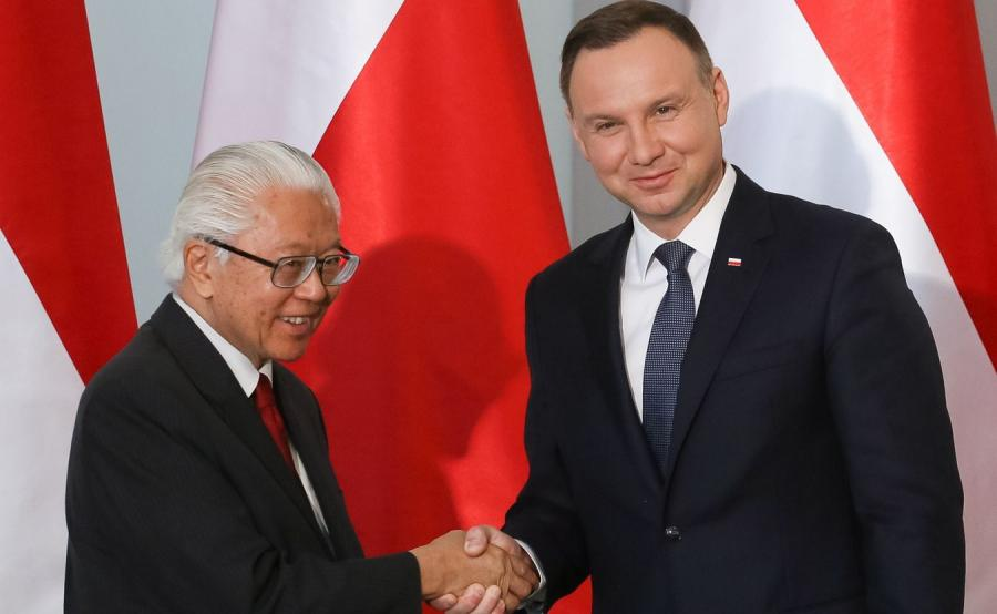 Prezydent Andrzej Duda oraz prezydent Singapuru Tony Tan Keng Yam