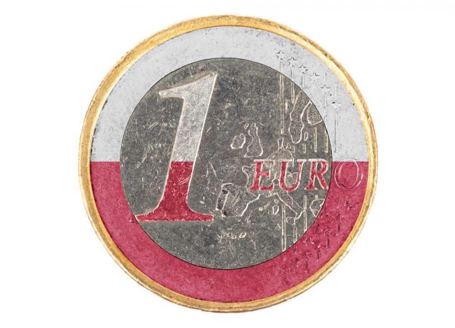 euro polska flaga