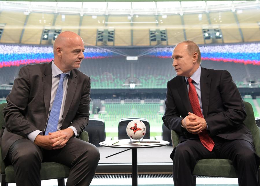 Gianni Infantino i Władimir Putin