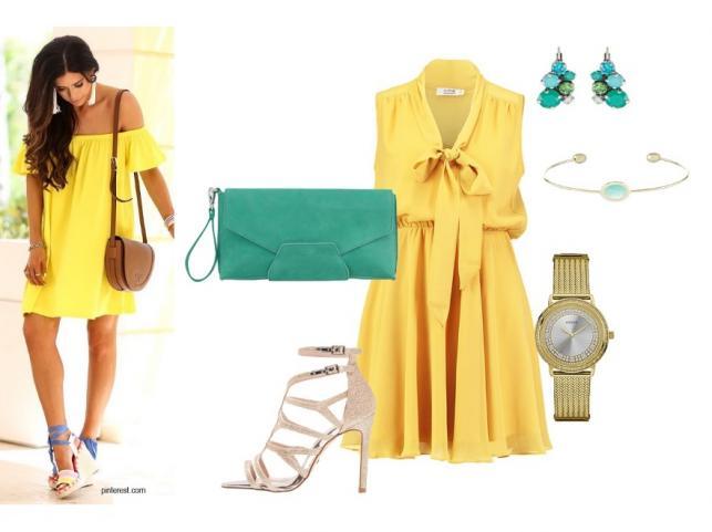 Żółty kolorem lata 2017. STYLIZACJE