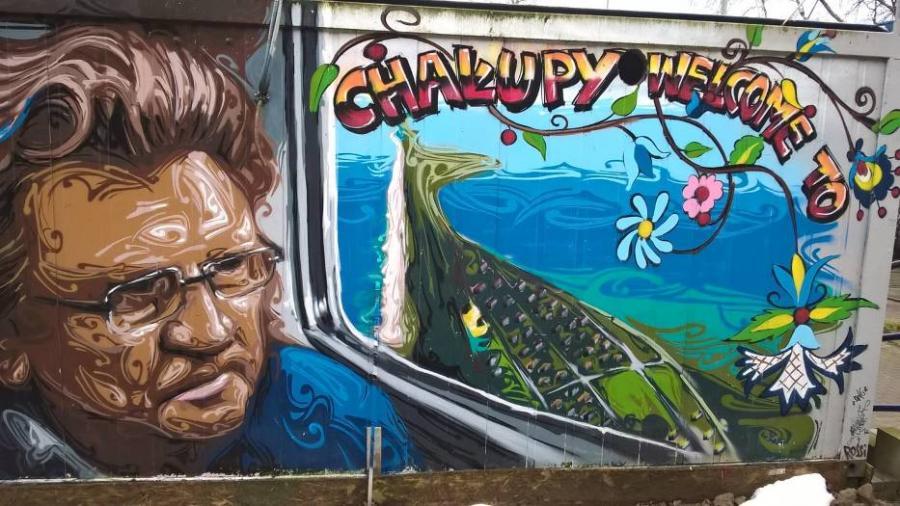 Mural w Chałupach fot. dzięki uprzejmości Urzęd Gminy Władysławowo