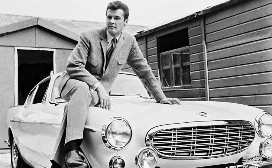 Volvo P1800 i Roger Moore jako Święty