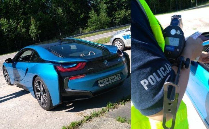 Hybrydowe BMW i8 pędziło 234 km/h