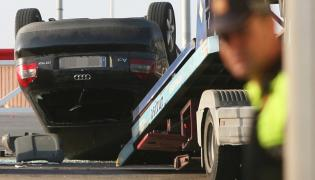 Samochód, którym posłużyli się terroryści podczas zamachu w Cambrils