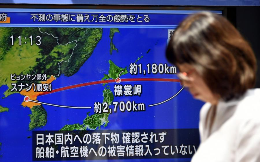 Korea Północna wystrzeliła rakietę nad Japonią