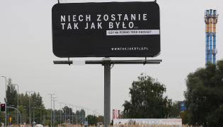 Billboardy w obronie reformy sądów