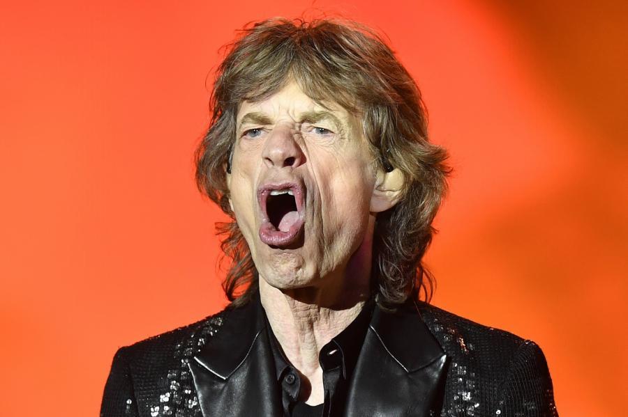 Mick Jagger podczas koncertu The Rolling Stones w Zurychu, 20.09.2017