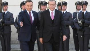 Prezydent Andrzej Duda i prezydent Turcji Recep Tayyip Erdogan