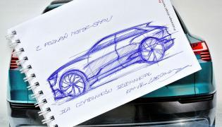 Kamil Łabanowicz narysował Audi e-tron quattro concept dla czytelników dziennik.pl