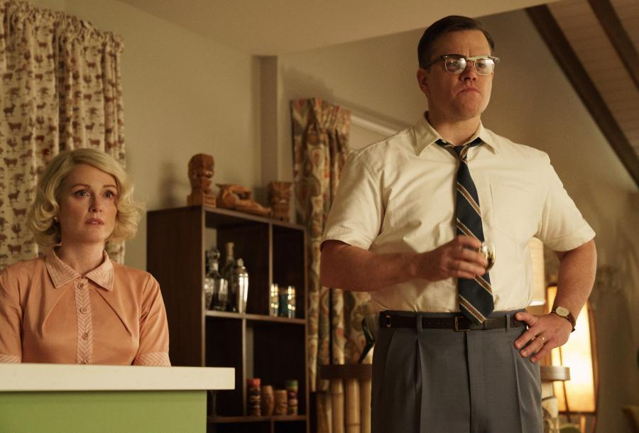 "Julianne Moore i Matt Damon w filmie ""Suburbicon"""