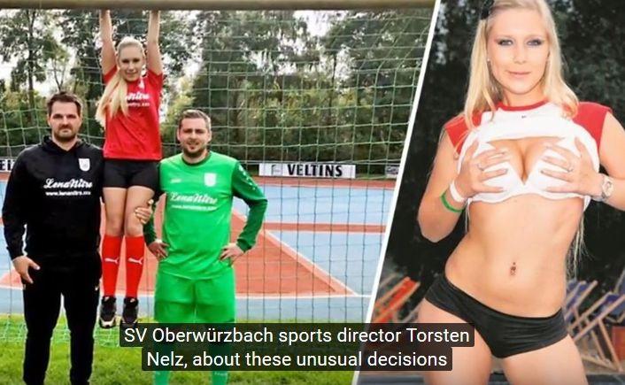 Lena Nitro i piłkarze SV Oberwurzbach