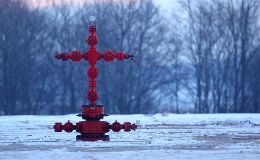 Odwiert gazu łupkowego firmy San Leon Energy
