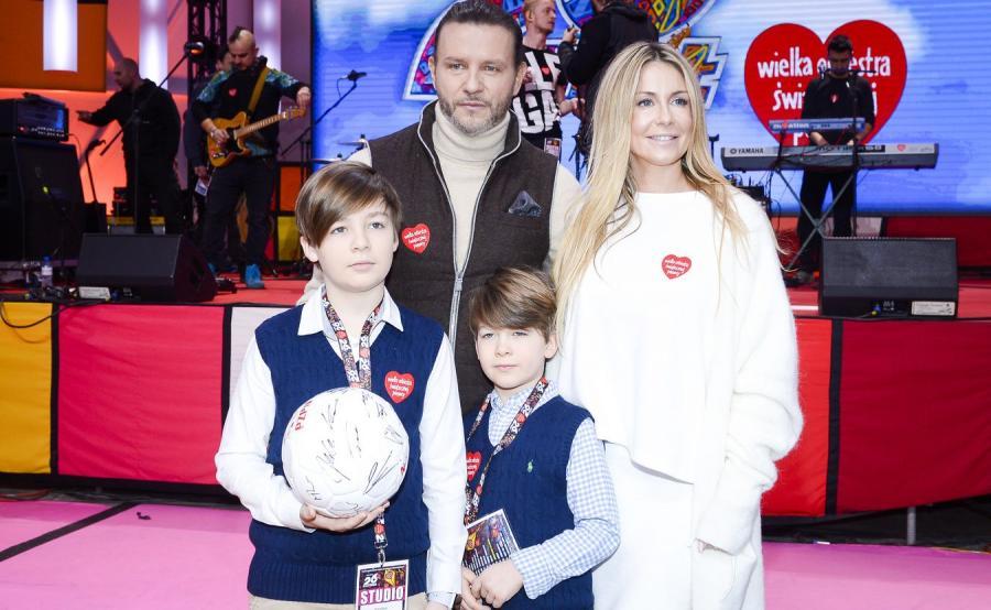 Małgorzata Rozenek-Majdan z mężem Radosławem i dziećmi