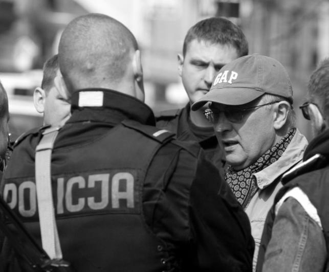 """Wojciech Wójcik na planie """"Esktradycji"""""""