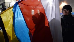 Flagi polska i ukraińska