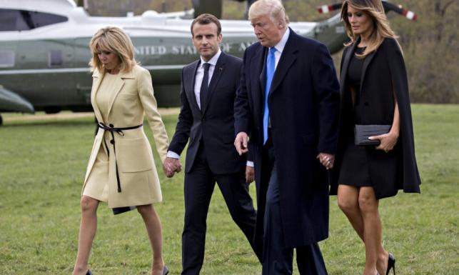 Wojna na nogi: Melania Trump na spotkanie z Brigitte Macron założyła mini, jakiej jeszcze nie miała. Wygrała? FOTO