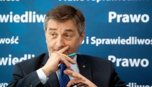 Marszałek Sejmu Marek Kuchciński podczas spotkania z mieszkańcami Zgierza