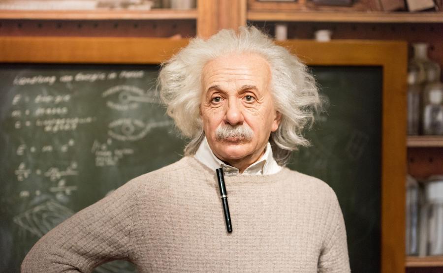 Woskowa figura Alberta Einsteina