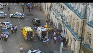 Schwytano taksówkarza, który wjechał w Moskwie w tłum kibiców