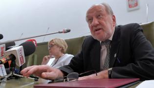 Małgorzata Gersdof i sędzia Józef Iwulski