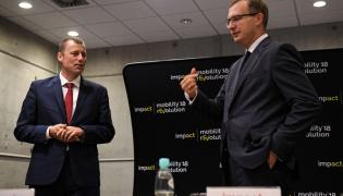 Mikołaj Wild i Paweł Borys podczas konferencji prasowej