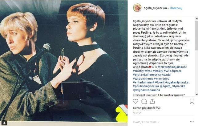 Agata Młynarska i Paulina Młynarska / Instagram Agaty Młynarskiej