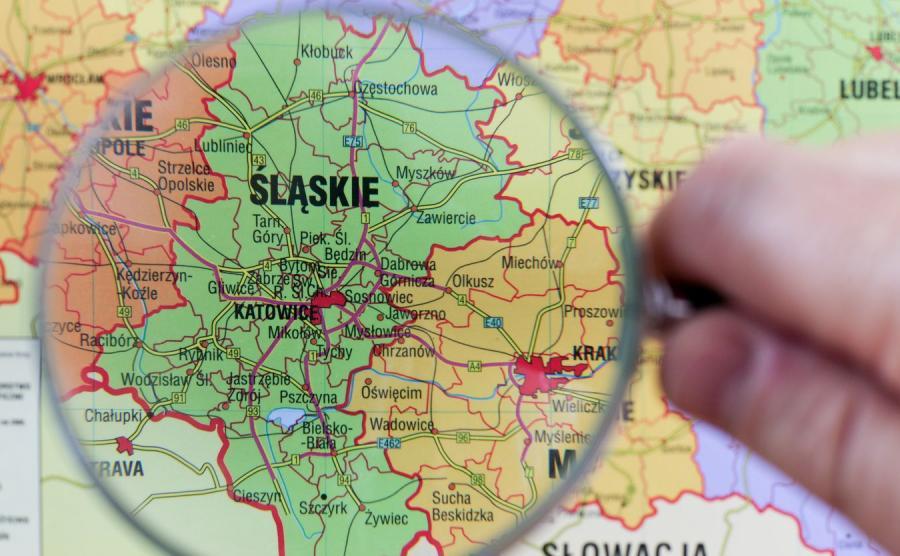 Śląsk, mapa