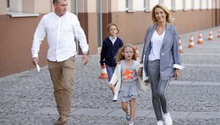 Anna Kalczyńska z rodziną