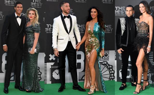 Raphael Varane, Sergio Ramos i Dani Alves z żonami