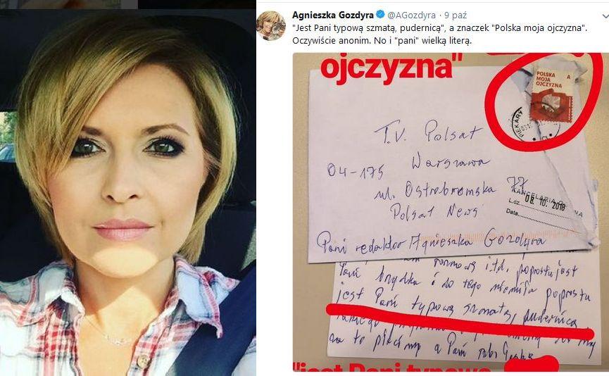 Agnieszka Gozdyra, list od widza
