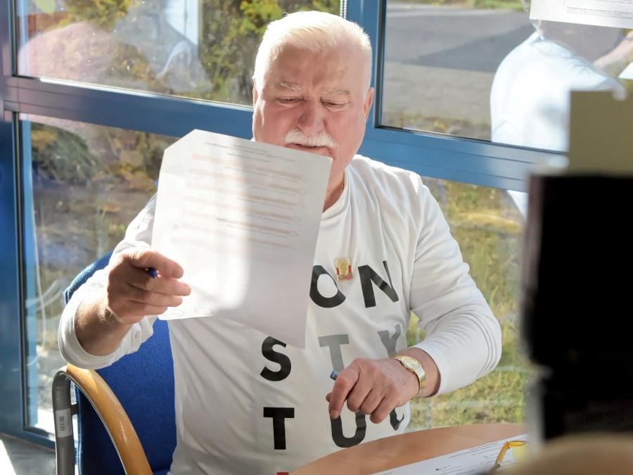 Wybory samorządowe 2018. Lech Wałęsa
