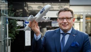 Prezes LOT Rafał Milczarski