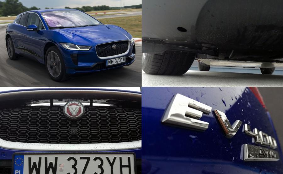 Podłoga I-Pace'a jest płaska jak nowa autostrada (specjalna osłona chroni akumulatory np. przed kamieniami), a atrapa chłodnicy ze szczeliną nad logo pełni rolę tunelu aerodynamicznego. W efekcie e-Jaguar łatwiej przecina ścianę powietrza, a to przekłada się na większy zasięg i pewniejsze trzymanie drogi przy wyższych prędkościach