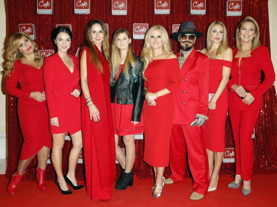 Gwiazdy na konferencji z okazji 10-lecia Polsat Cafe