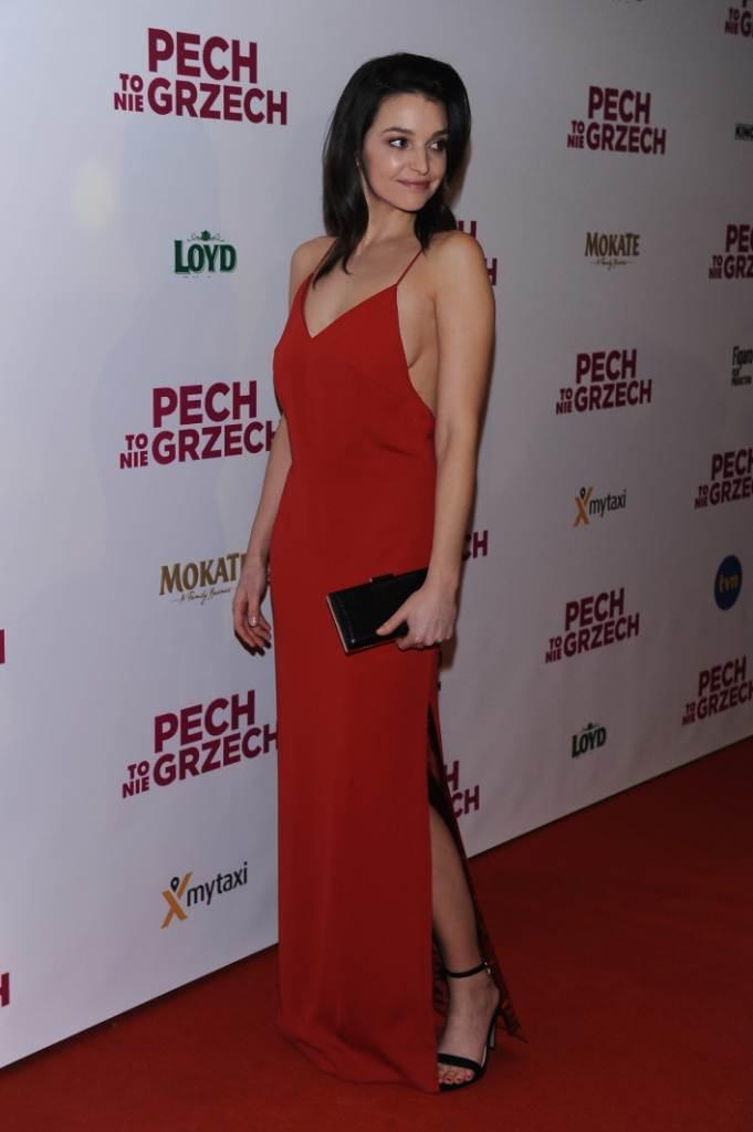 """Maria Dębska na premierze filmu """"Pech to nie grzech"""" 17 grudnia 2018"""