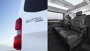 Podróżujący nową Zafirą Life powinni docenić dwuczęściowy panoramiczny dach i otwierane okno w tylnej klapie