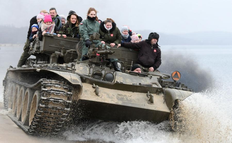 Sopot przejażdżka czołgiem