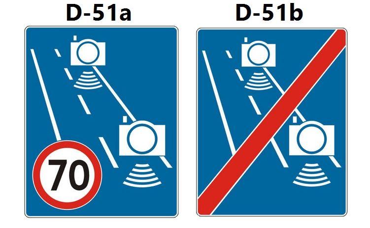Odcinkowy pomiar prędkości - NOWE OZNAKOWANIE