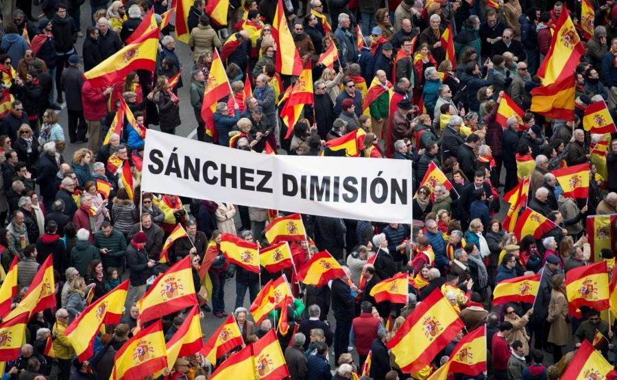 Protest w Madrycie
