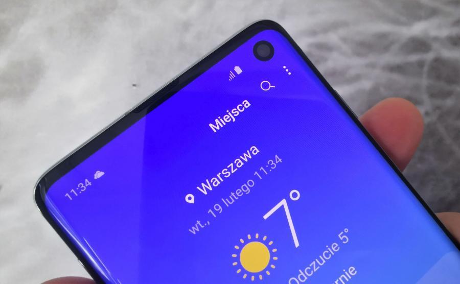 Samsung Galaxy S10 - aparat przedni