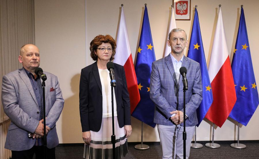 Sławomir Broniarz, Sławomir Wittkowicz, Dorota Gardias