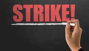 Strajk. Szkoła. Tablica