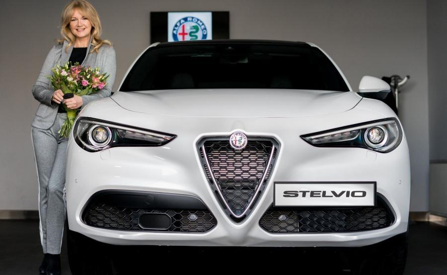 Grażyna Torbicka i Alfa Romeo Stelvio