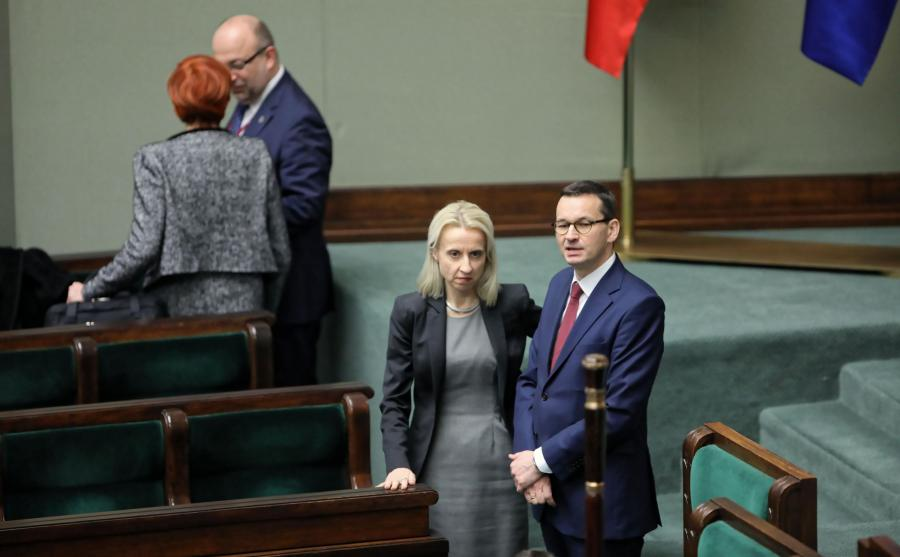 Teresa Czerwińska i Mateusz Morawiecki